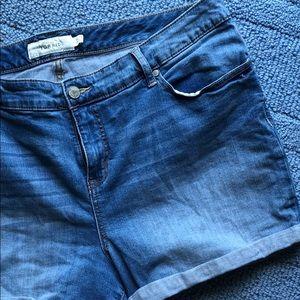Torrid Jean Cuffed Shorts